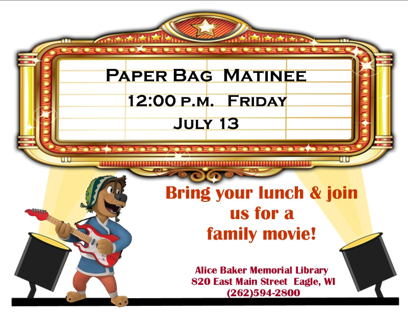 Paper bag matinee july