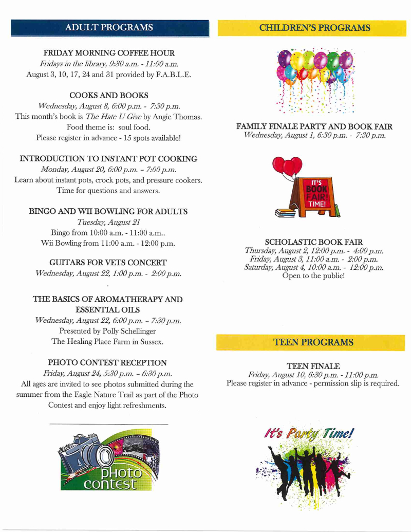 Library newsletter August 2018 page 2