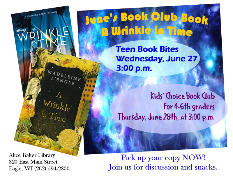 Kids choice and teen book bites wrinkle in time