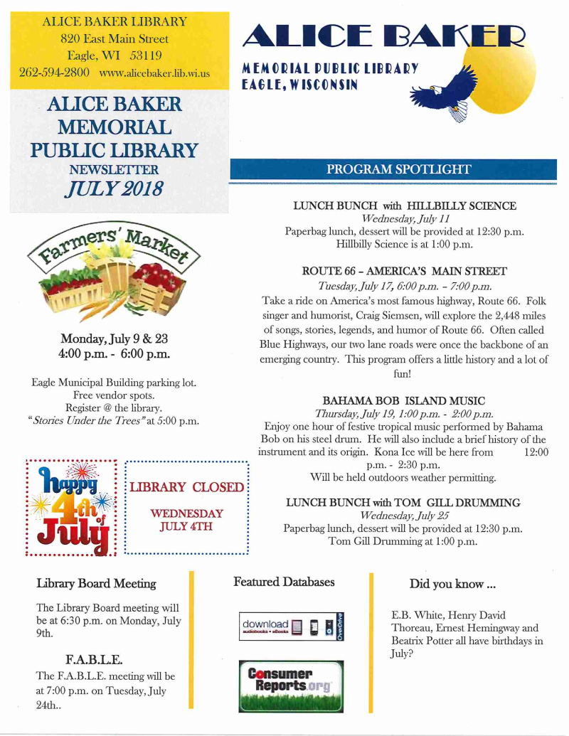 JUL newsletter page 1
