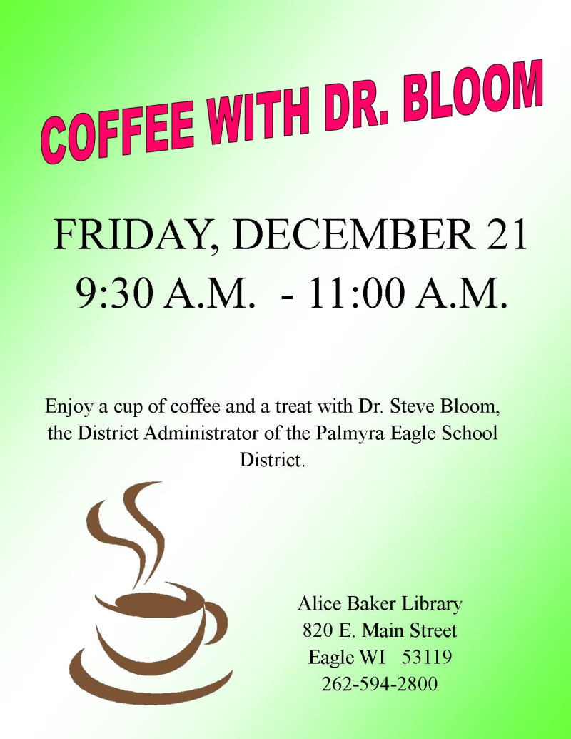 Coffee with Dr. Bloom