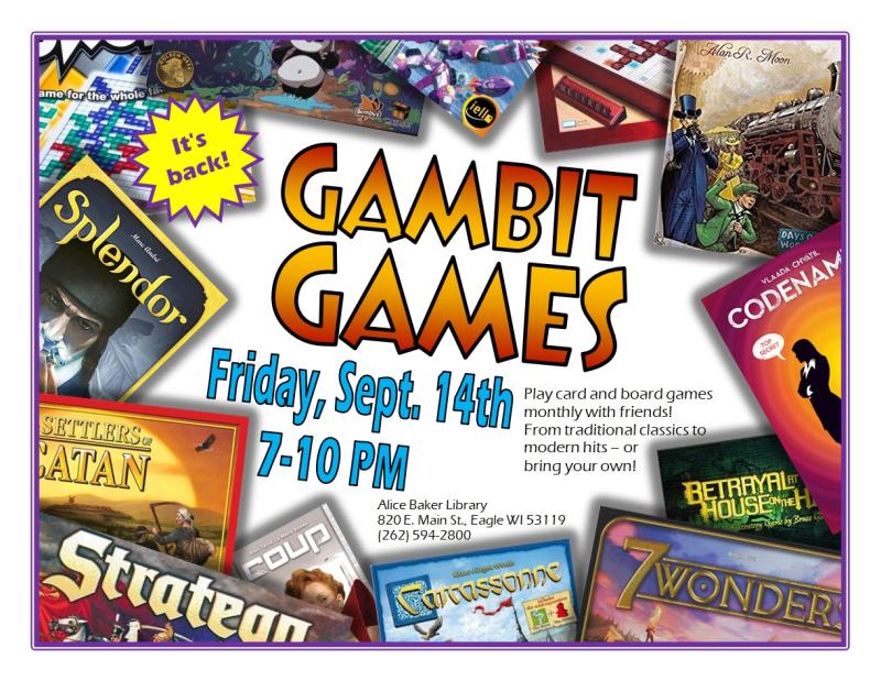 Gambit Games 9-14-18