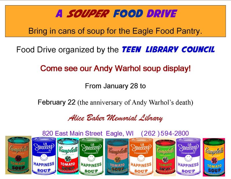 Souper food drive letter size