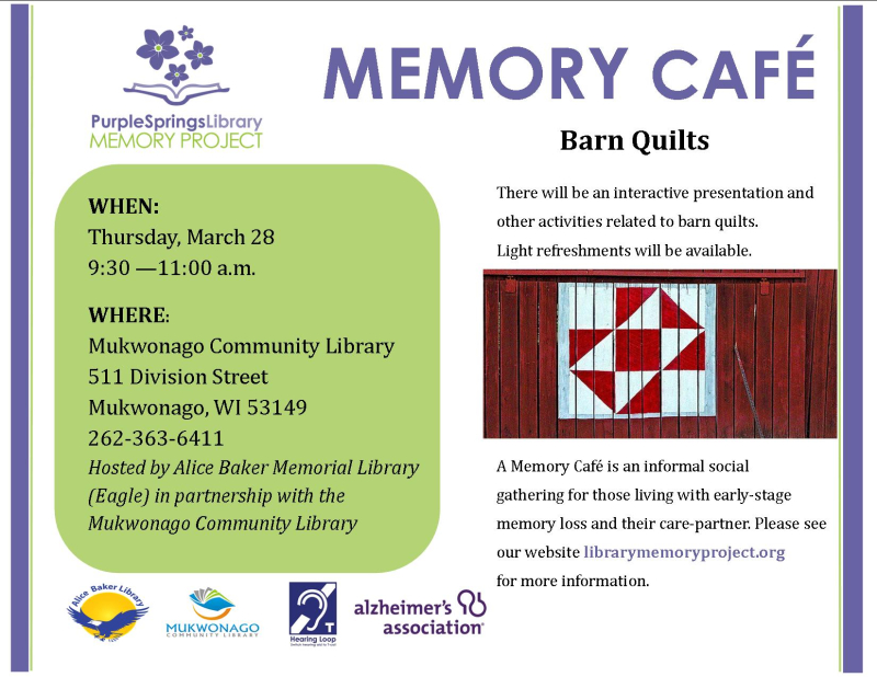 Purple Springs Memory Cafe- Mar 2019
