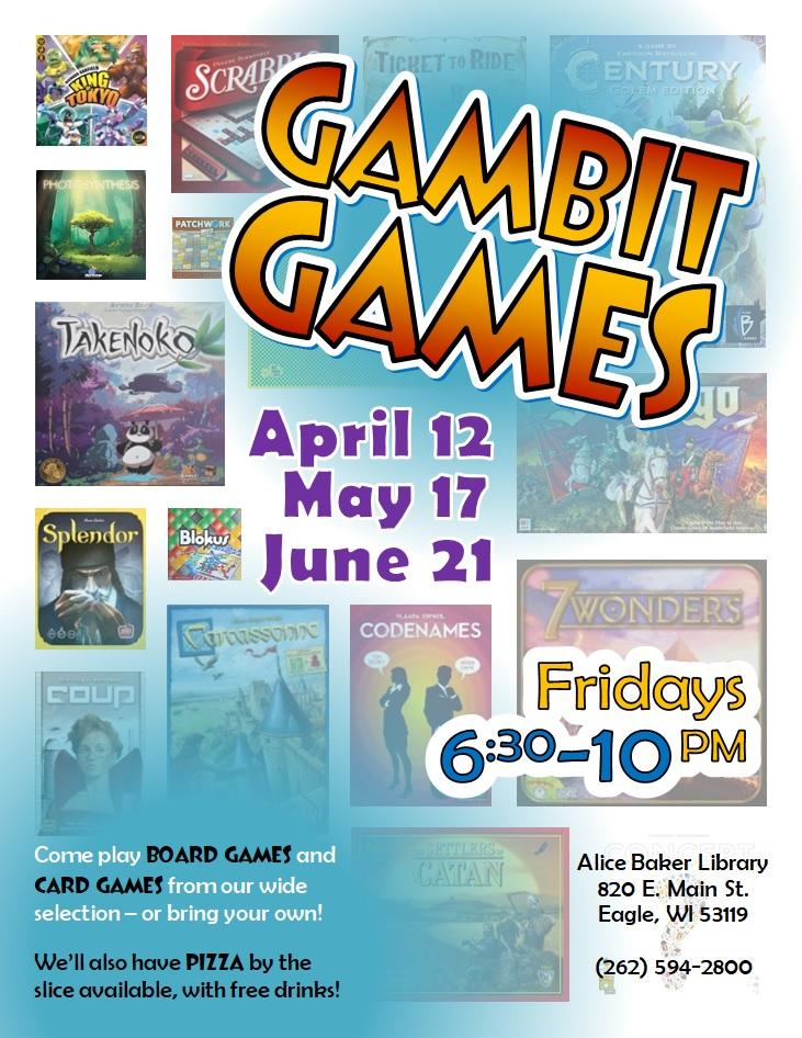 Gambit Games (AprMayJun 2019)