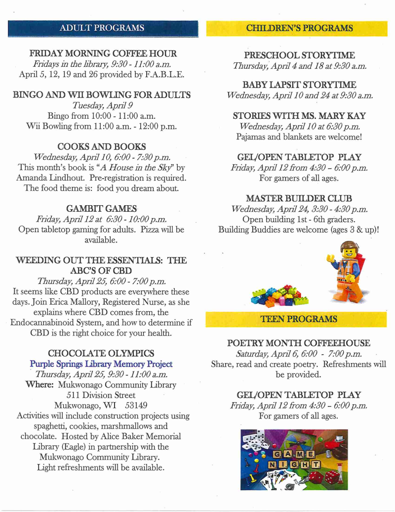 APR 2019 library newsletter page 2