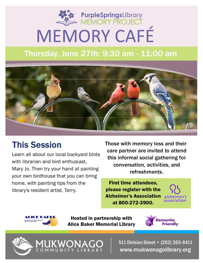 Memory cafe - Birding- poster
