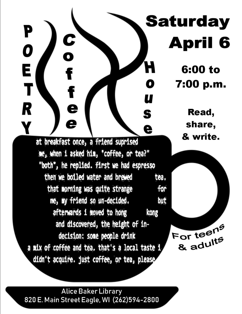 Poetry coffee house