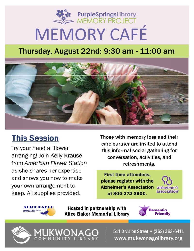 Memory cafe - Flower Arranging- poster