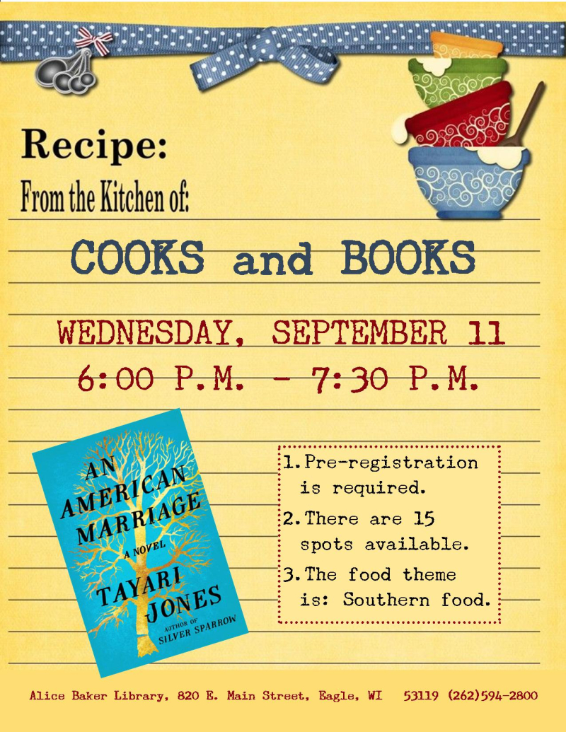 Cooks and Books - An American Marriage