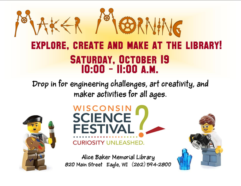 Maker mornings science festival october