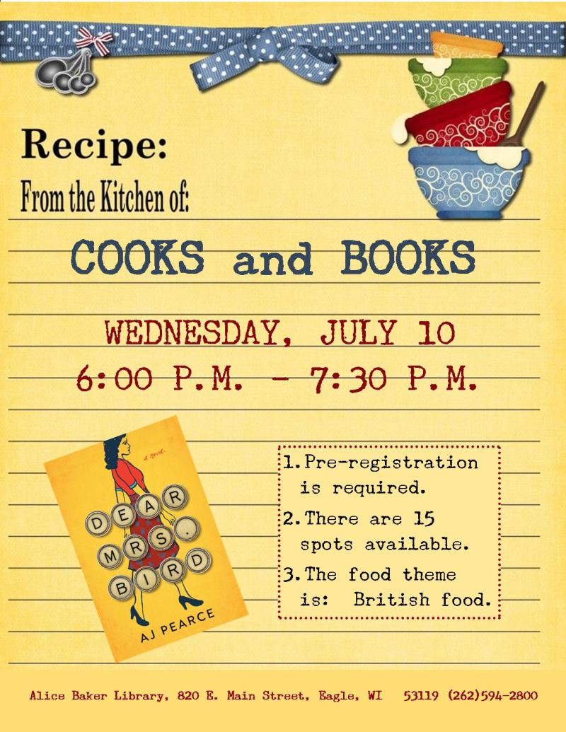 Cooks and Books - Dear Mrs. Bird