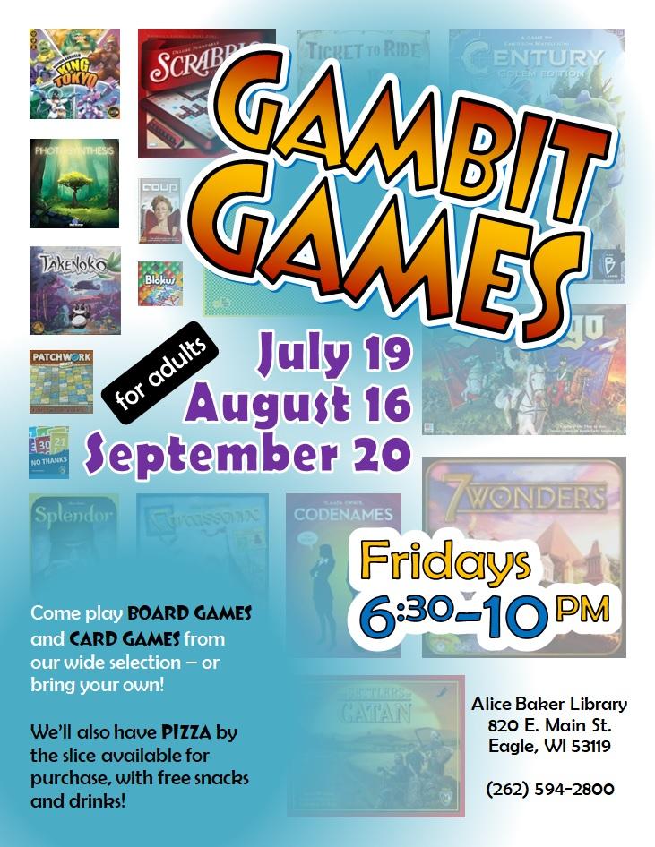 Gambit Games (JulAugSep 2019)