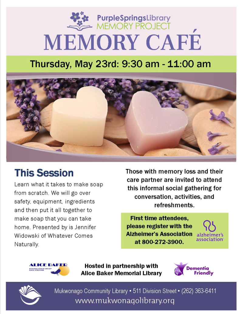 Memory cafe - soap- poster