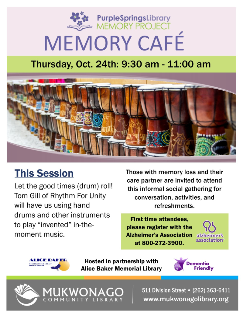 Memory cafe - Drumming- poster
