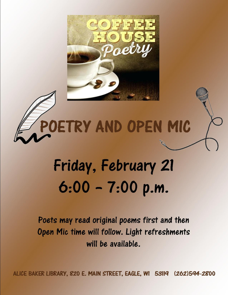 Coffeehouse poetry FEB 20