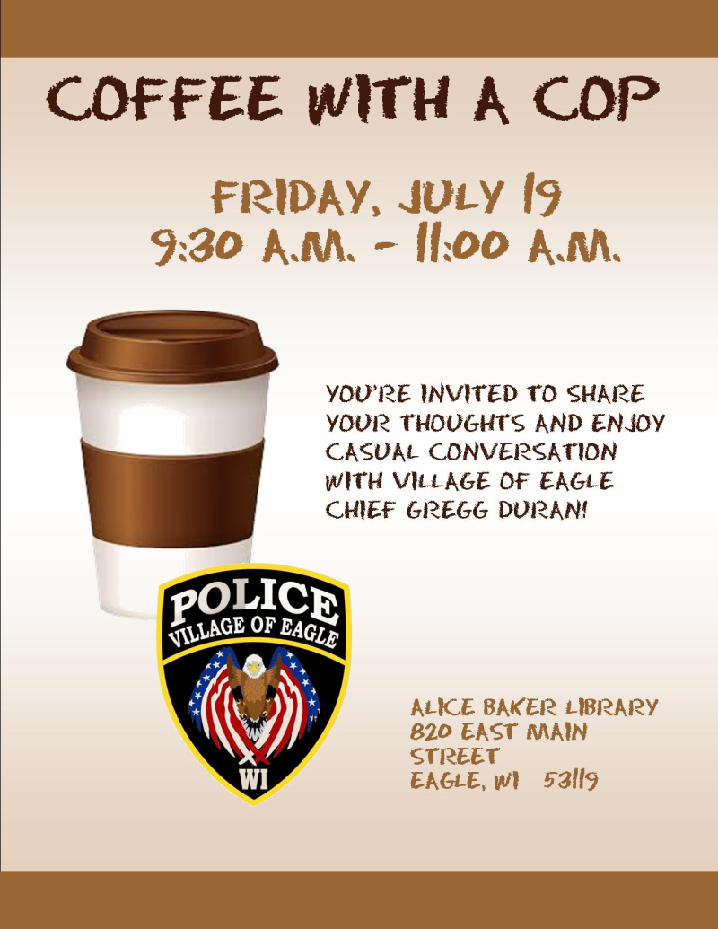 Coffee with chief duran - JULY 19 2019