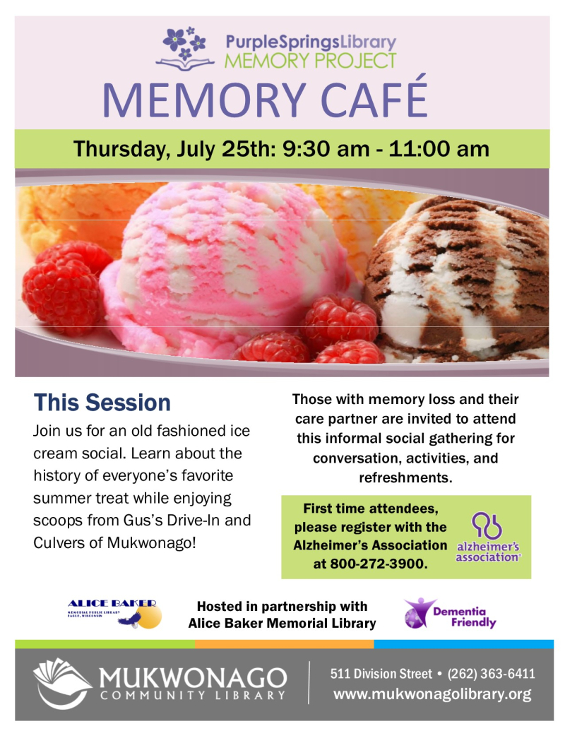 Memory cafe - Ice Cream Social- poster