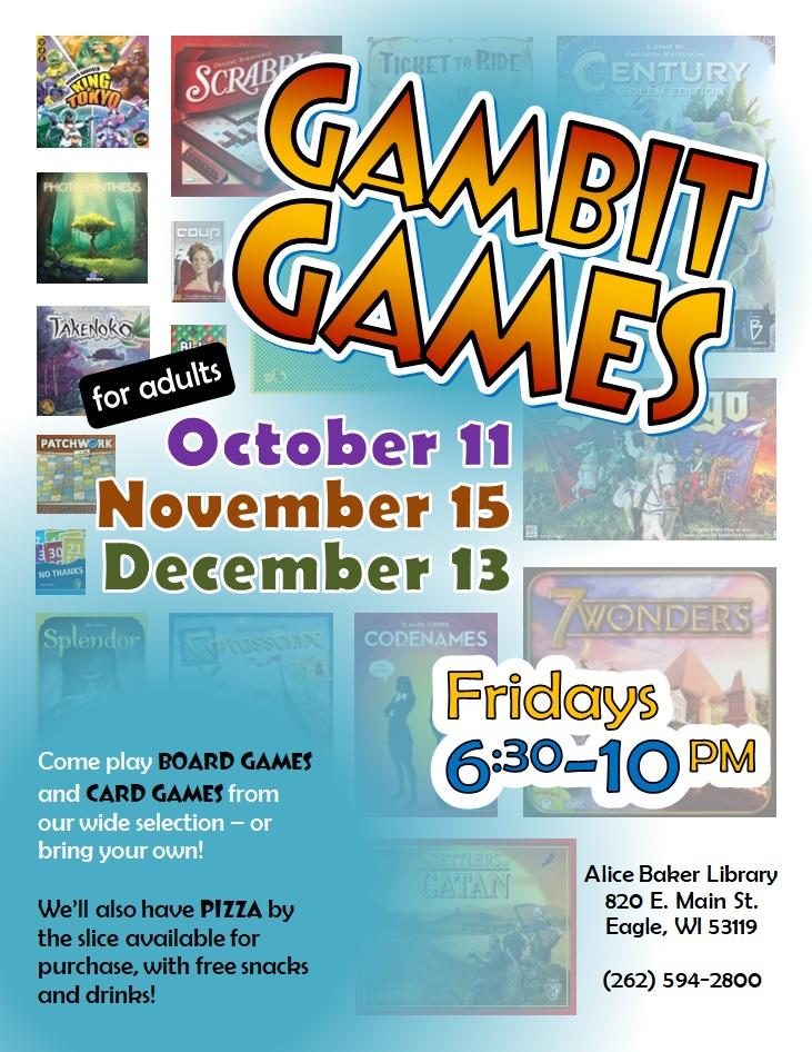 Gambit Games (OctNovDec 2019)
