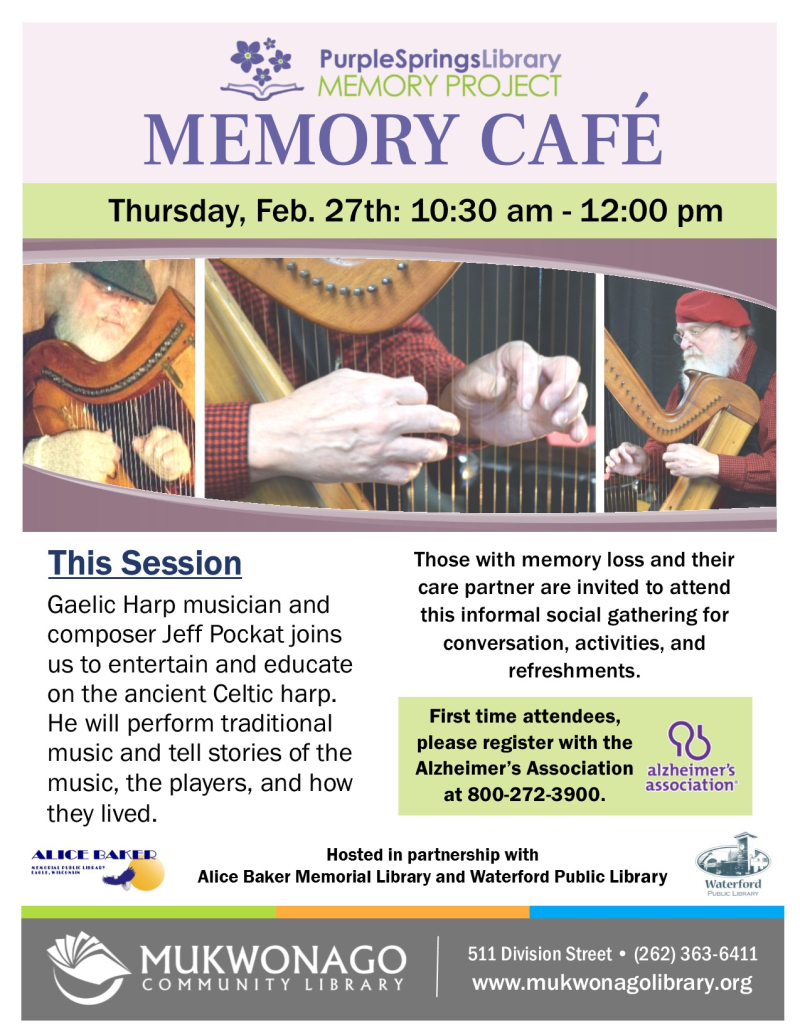 February Memory cafe - Gaelic Harper- poster - UPDATE