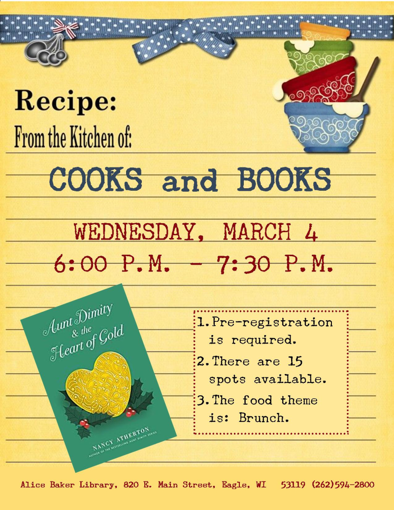 Cooks and Books - Aunt Dimity