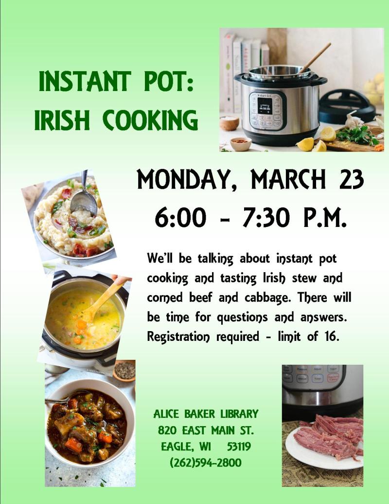 INSTANT POT - Irish Cooking