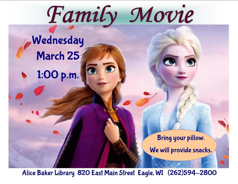 Frozen family movie