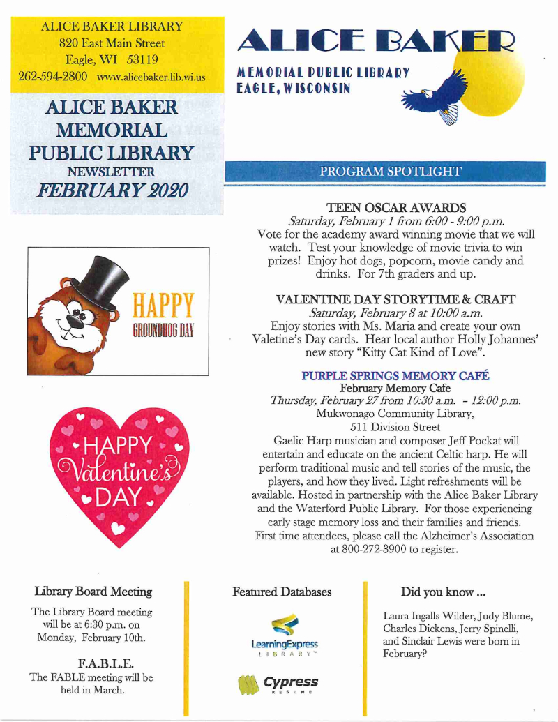 02 - Newsletter February 2020 page 1