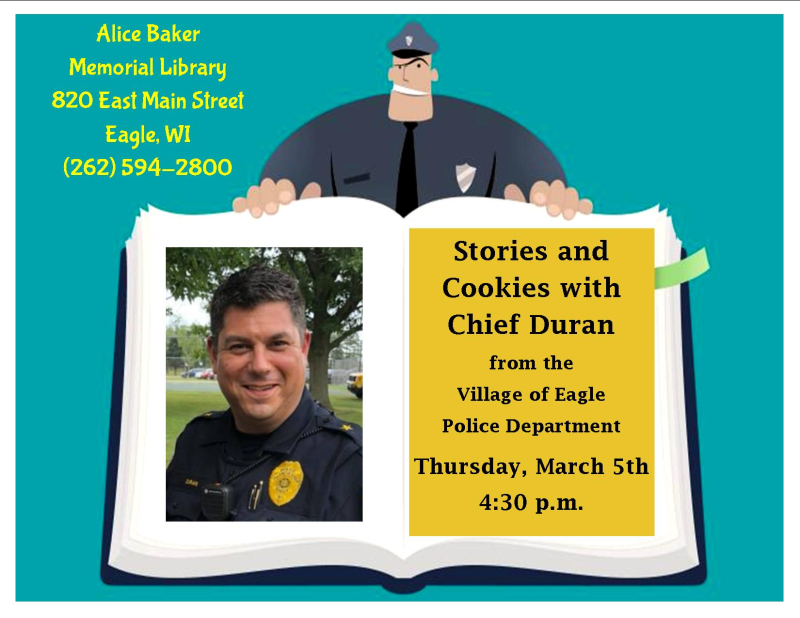 Stories and Cookies with Chief Duran