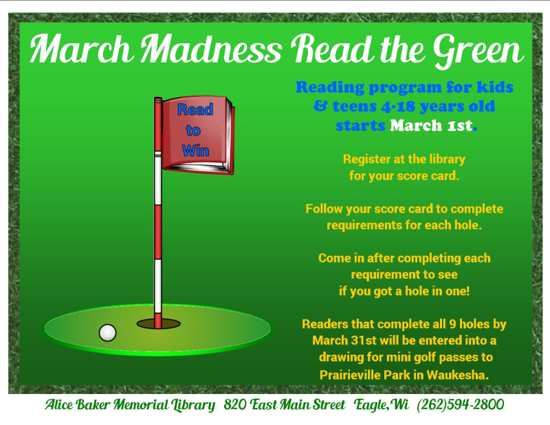 March madness read the green