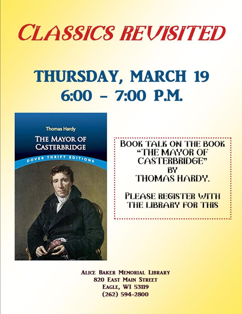 Classics Revisited - MAYOR OF CASTERBRIDGE