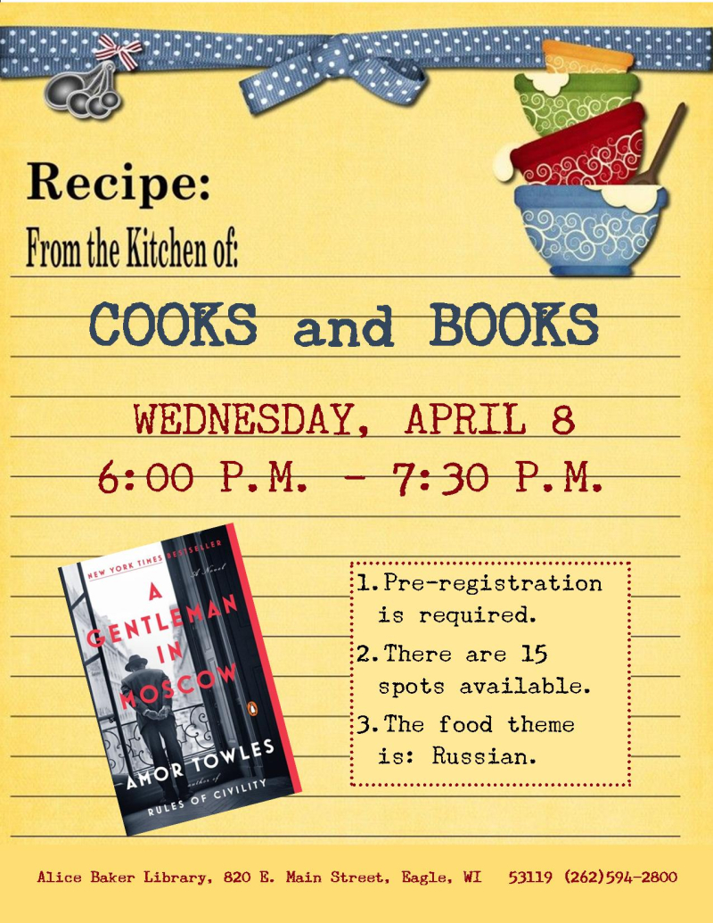 Cooks and Books - A Gentleman in Moscow
