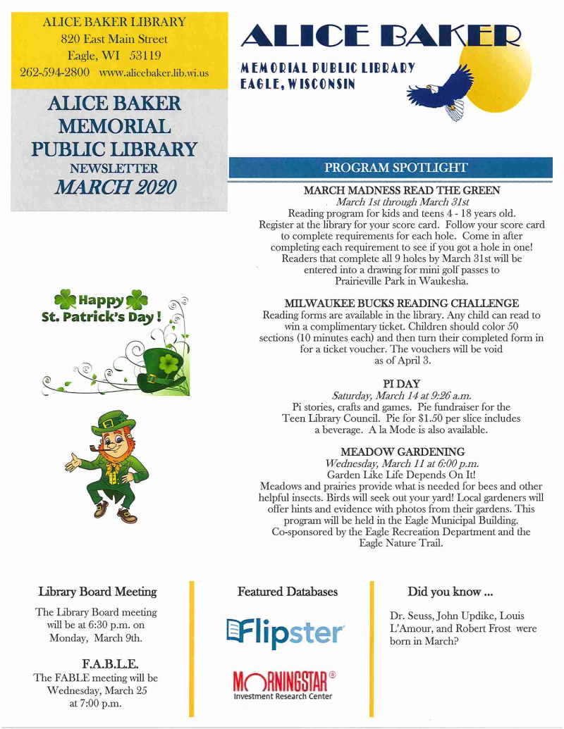 03-Newsletter March 2020 page 1