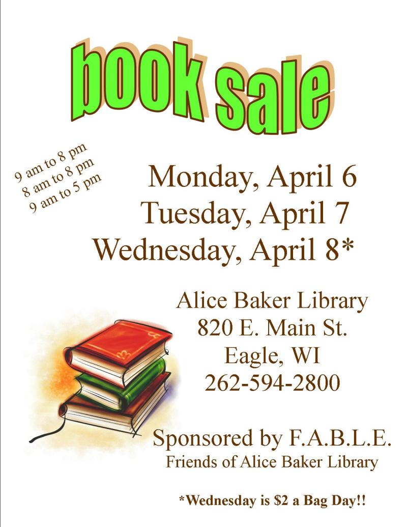 Book Sale Spring 2020