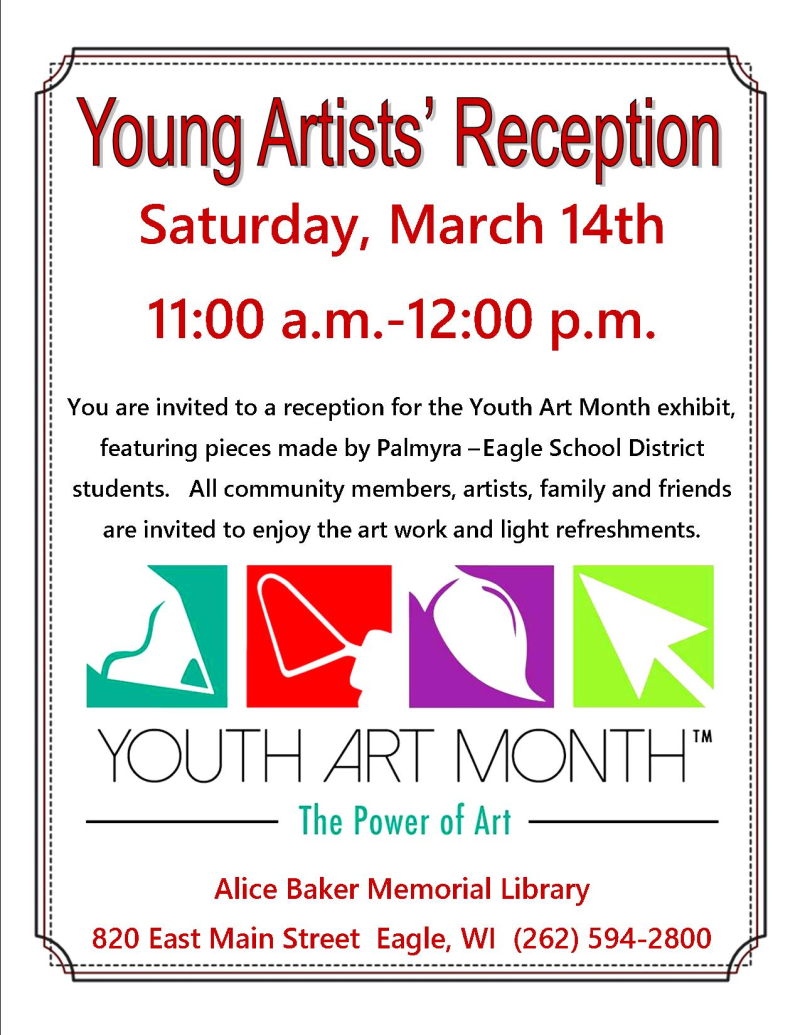 Young artist's reception