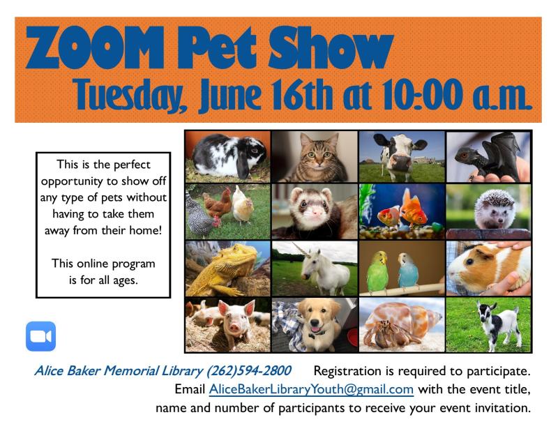 Zoom pet show