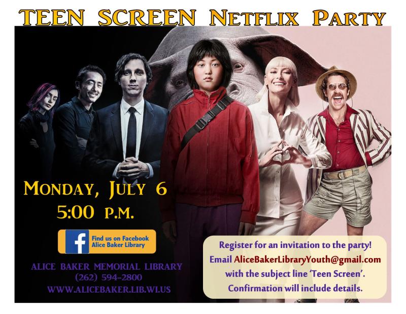Teen screen July okja