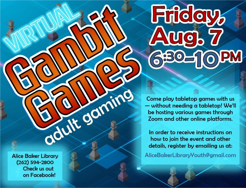 Virtual Gambit Games (2020-8-7)