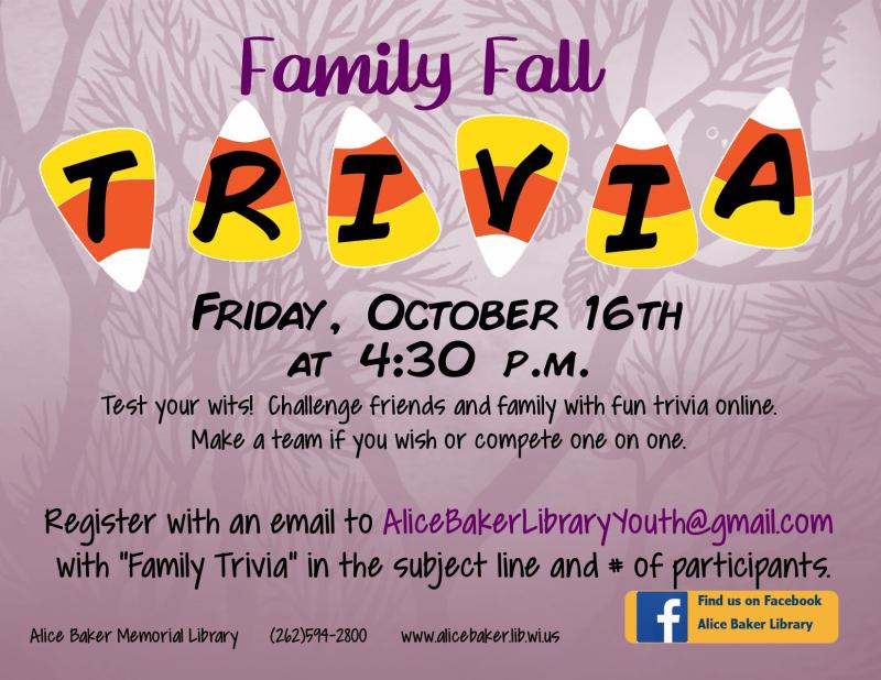 Family fall trivia October