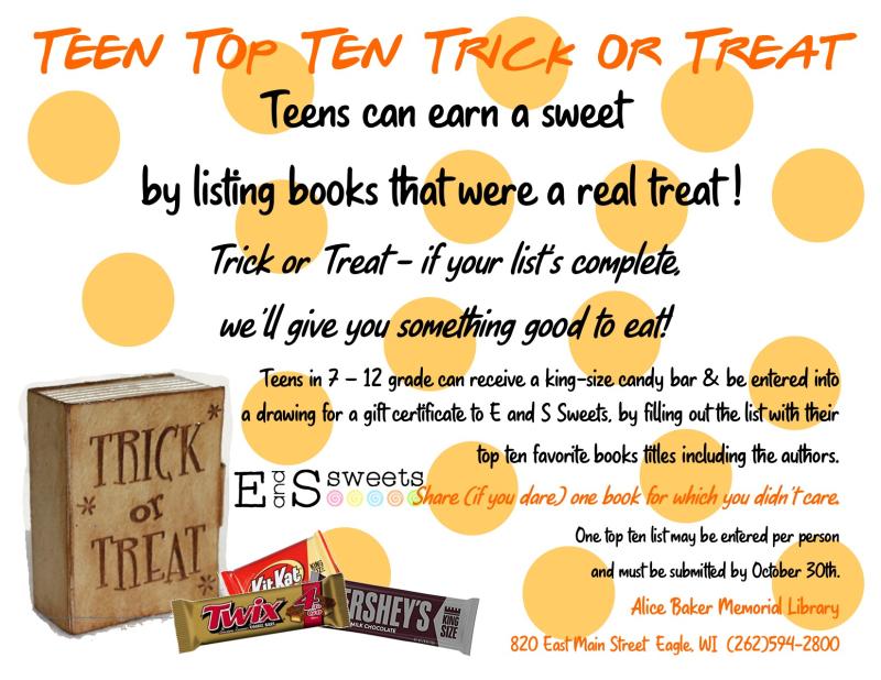 Teen Top Ten Trick or Treat flyer