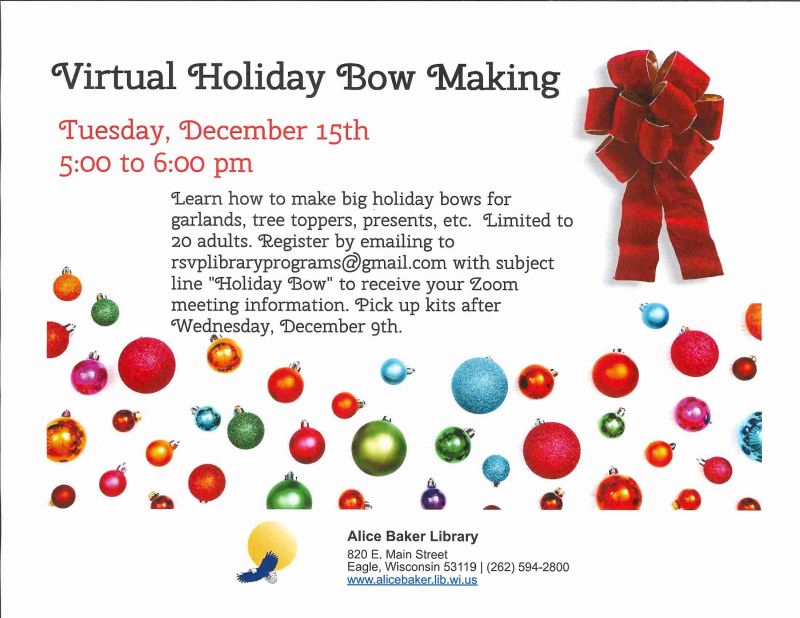 Virtual Holiday Bow Making