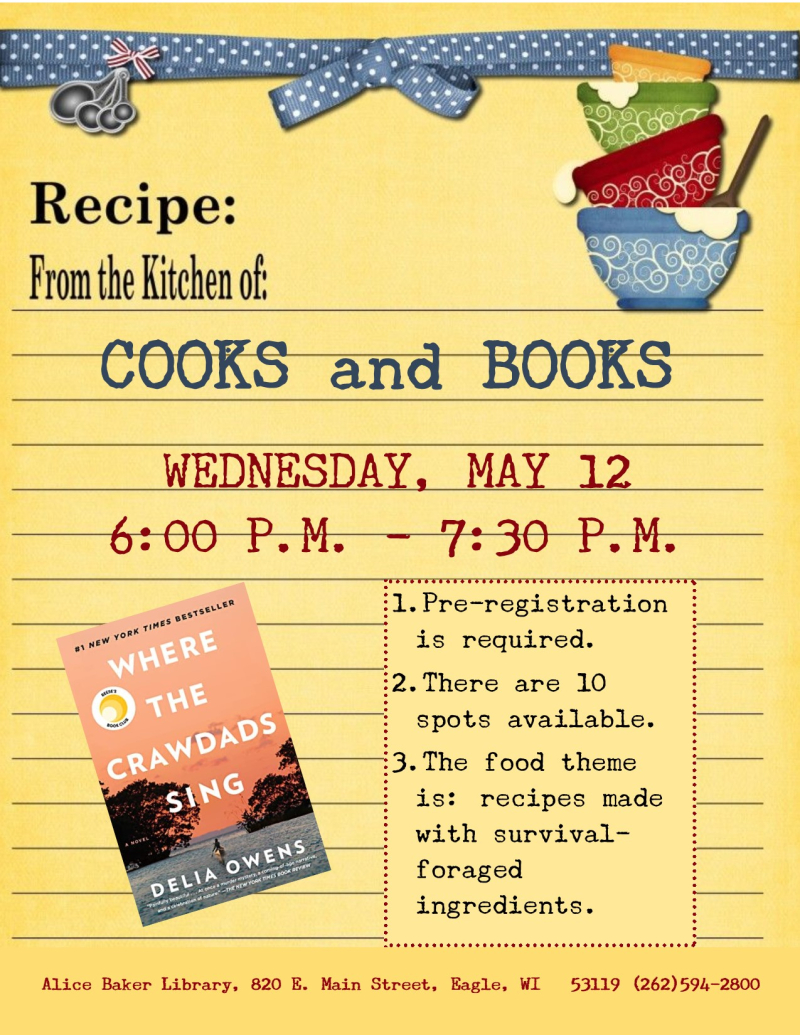 Cooks and Books - Crawdads