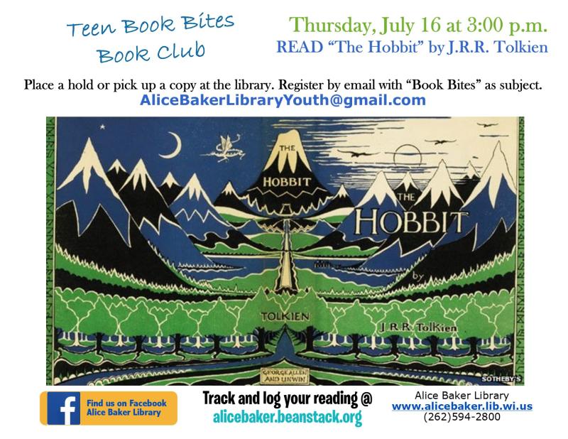 Teen Book Bites July hobbit.pub