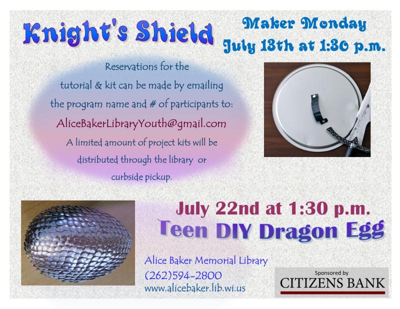 Maker Monday DIY July shield and dragon egg