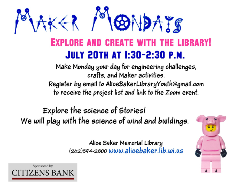 Maker mondays JULY 20