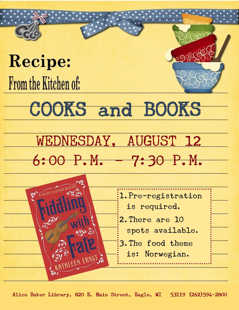 Cooks and Books - Fiddling with Fate