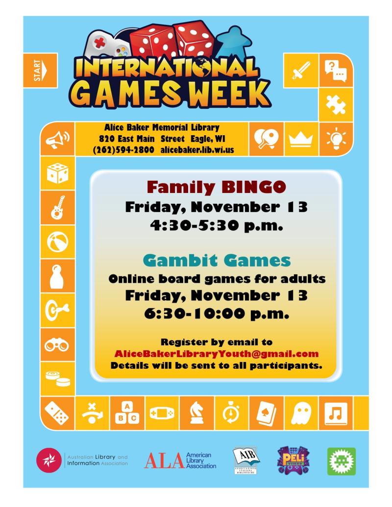 International gaming week november 2020