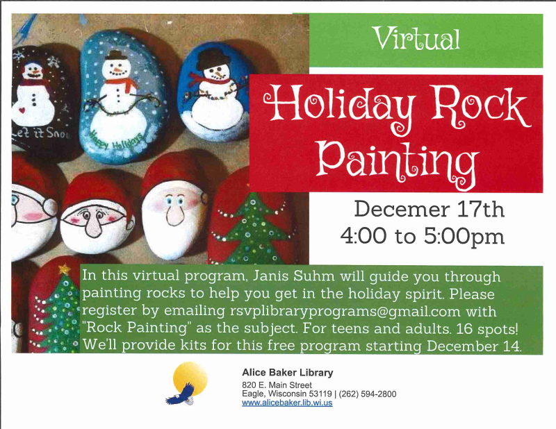 Virtual Holiday Rock Painting