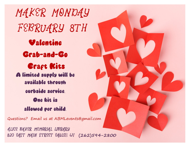 February Maker Monday Valentines