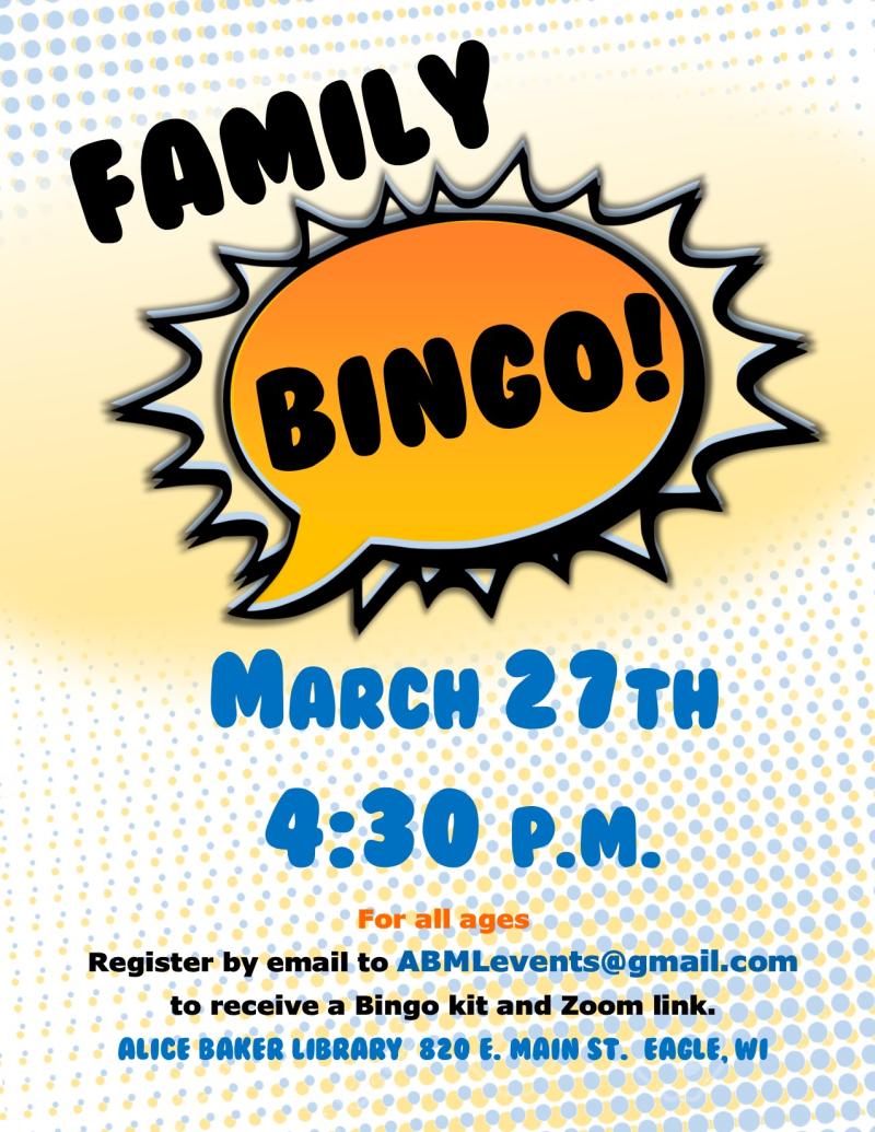 Spring family bingo
